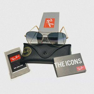 Ray-Ban Aviator Gold Grandient RB3025
